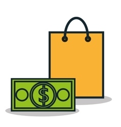 Icon bag buy shop isolated vector
