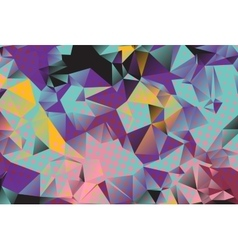 Low poly background with many dots vector image