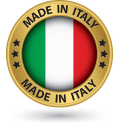 Made in Italy gold label vector