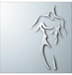 Man torso vector