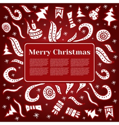 Merry Christmas card with Holiday elements vector image
