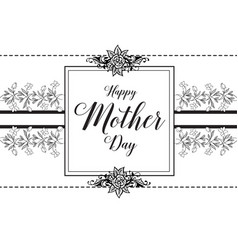 Mother day beautiful gretting card vector