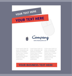 Mouse title page design for company profile vector