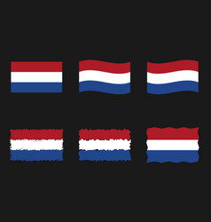 netherlands flag holland flag images set vector image