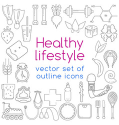 outline icons vector image vector image
