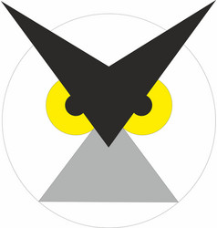 Owl symbol as icon and logo emblem vector