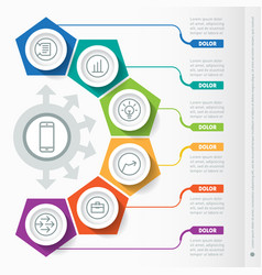 part of the report with icons set infographic of vector image