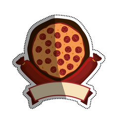 Pizza salami pepperoni banner vector