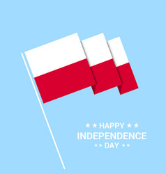 Poland independence day typographic design with vector