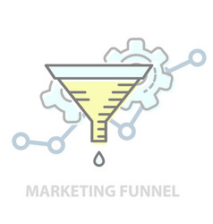 principles marketing funnel - test of vector image