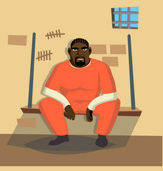 prisoner man criminal man arrested and vector image