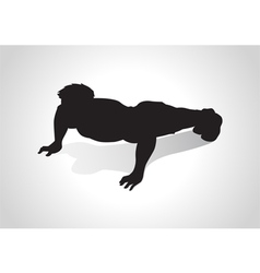 Push Up vector image