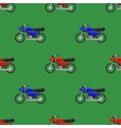 Red Blue Sport Bike Seamless Pattern vector