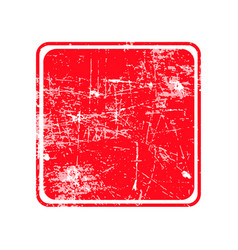 Red square grunge stamp with blank siolated on vector