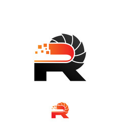 Save download preview letter r logo design vector