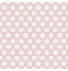 seamless retro polka dots texture background vector image