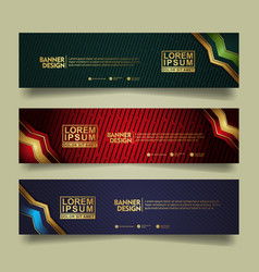 Set banner template design with luxury and vector