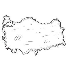 Sketch of a map of turkey vector