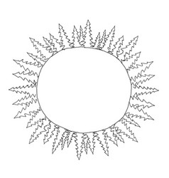 Sketch round of spruce trees frame in circle vector