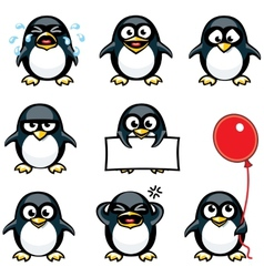 Smiley penguins vector