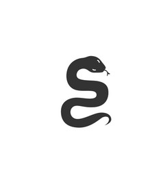 snake silhouette black and vector image