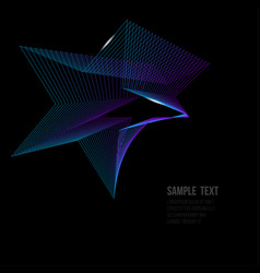 Star on black background vector