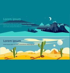 summer and winter extreme travel horizontal vector image
