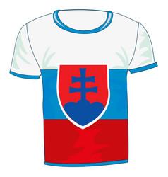 t-shirt sign slovakia vector image