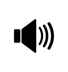 The speaker icon Sound symbol Flat vector image
