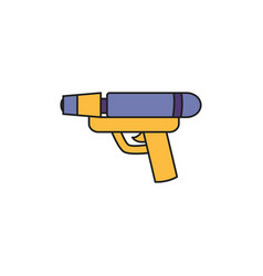 Toy water gun fill style icon vector