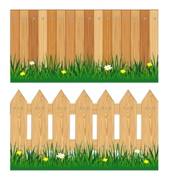 Two fences from tree vector image