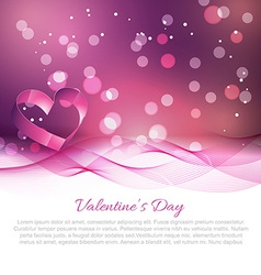 valentine day background with wave effect vector image