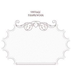 victorian horizontal frame of calligraphic design vector image