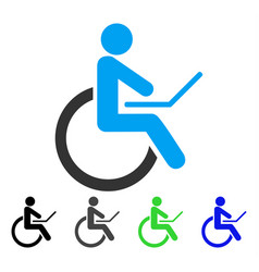 Wheelchair flat icon vector
