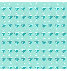 Wine glasses pattern vector