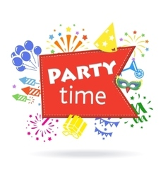 Party time sign Holiday celebration emblem vector image