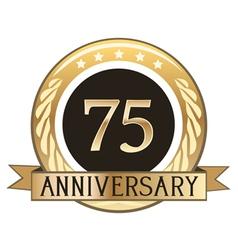 Seventy Five Year Anniversary Badge vector image vector image