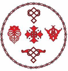 ancient ornament vector image