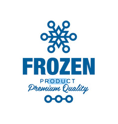 frozen product premium quality label for freezing vector image