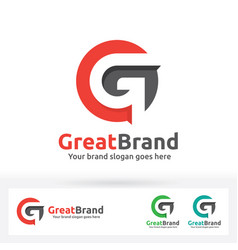 g letter brand logo g letter in a circle with vector image vector image