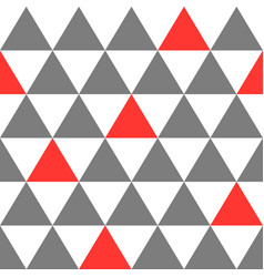 seamless pattern background triangle vector image vector image
