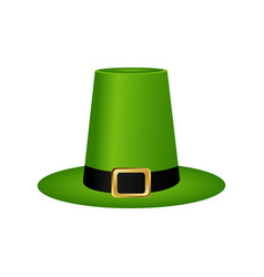 hat cylinder on st patrick s day vector image
