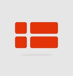 Denmark flag a stylized Flag Danish of geometrical vector image vector image