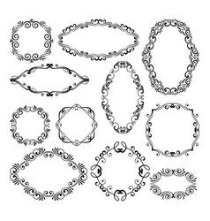 floral design filigree frame elements vector image vector image