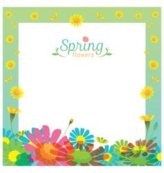 Flowers Spring Season Frame vector image vector image