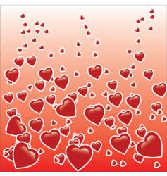 hearts graphic vector image vector image