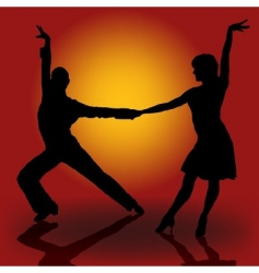 latino dancers vector image vector image