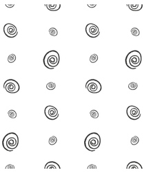 Spiral imitation ink on a white background vector