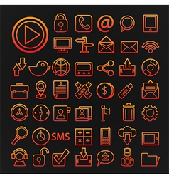 46 icons communication set vector