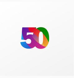 50 years anniversary celebration elegant color vector
